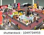 a vector illustration of... | Shutterstock .eps vector #1049734955
