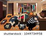 a vector illustration of... | Shutterstock .eps vector #1049734958