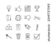 universal icons set with reward ...