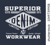 superior denim workwear  ... | Shutterstock .eps vector #1049739908