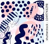 creative doodle art header with ...   Shutterstock .eps vector #1049743298
