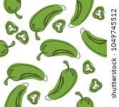 green chilli pepper seamless...   Shutterstock .eps vector #1049745512