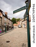 Small photo of A view of the strait leading up to Steep Hill and the Cathedral, Lincoln, Lincolnshire, United Kingdom - August 2009