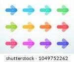 vector abstract arrow bullet... | Shutterstock .eps vector #1049752262
