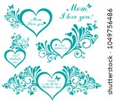 happy mother day background.... | Shutterstock .eps vector #1049756486