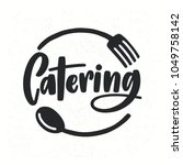 catering company logotype with... | Shutterstock .eps vector #1049758142