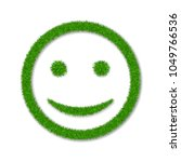 green grass face smile. smiley... | Shutterstock .eps vector #1049766536