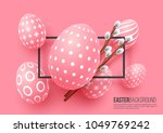 abstract easter pink background.... | Shutterstock .eps vector #1049769242