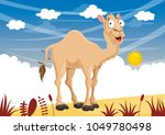 vector illustration of cartoon... | Shutterstock .eps vector #1049780498