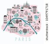 Cartoon Map Of Paris With...