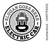 electric car logo. e car design ... | Shutterstock .eps vector #1049793452