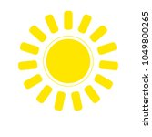 sun icon web design elements | Shutterstock .eps vector #1049800265
