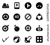solid vector icon set   baggage ... | Shutterstock .eps vector #1049801936