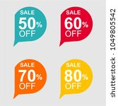 discount tag with special offer ... | Shutterstock .eps vector #1049805542