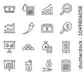 thin line icon set   cash... | Shutterstock .eps vector #1049806058