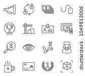 thin line icon set   business... | Shutterstock .eps vector #1049813006