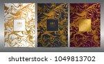luxury premium menu design... | Shutterstock .eps vector #1049813702