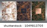 luxury premium menu design... | Shutterstock .eps vector #1049813705