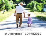 grandfather and granddaughter   Shutterstock . vector #104982092