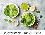 vegan  detox buddha bowl with... | Shutterstock . vector #1049821085