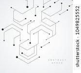 hexagonal technology pattern.... | Shutterstock .eps vector #1049825552