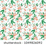 cute floral pattern in the... | Shutterstock .eps vector #1049826092