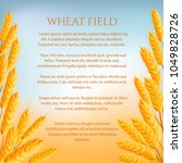 wheat field agricultural... | Shutterstock .eps vector #1049828726