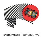 karting sport symbol with... | Shutterstock .eps vector #1049828792