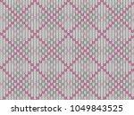 seamless knitted pattern.... | Shutterstock .eps vector #1049843525