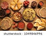 assorted dishes eastern  uzbek  ... | Shutterstock . vector #1049846996