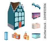 building and architecture... | Shutterstock .eps vector #1049853506