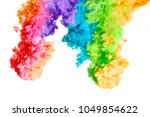 ink in water isolated on white... | Shutterstock . vector #1049854622