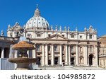 Vatican. A Fountain Before St....