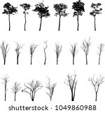 dead tree without leaves vector | Shutterstock .eps vector #1049860988