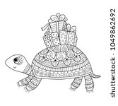 coloring page for kids and... | Shutterstock .eps vector #1049862692