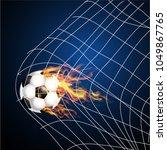 ball fire. soccer ball   Shutterstock .eps vector #1049867765