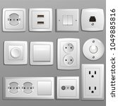 socket and switch vector... | Shutterstock .eps vector #1049885816