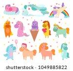 pony vector cartoon unicorn or... | Shutterstock .eps vector #1049885822