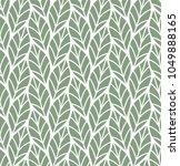 geometric seamless leaf vector... | Shutterstock .eps vector #1049888165