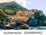 sunny day in manarola | Shutterstock . vector #1049890442