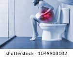 woman feel pain with... | Shutterstock . vector #1049903102