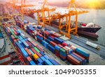 logistics and transportation of ... | Shutterstock . vector #1049905355