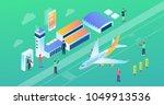 modern wide ultra hd screen...   Shutterstock .eps vector #1049913536