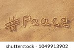 Hashtag In The Sand    Peace