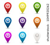 set of colorful 3d map pointer... | Shutterstock .eps vector #1049920262