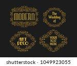 vintage swirl ornament... | Shutterstock .eps vector #1049923055