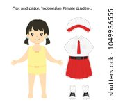 cut and paste indonesian female ...   Shutterstock .eps vector #1049936555