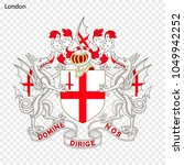 emblem of london. city of... | Shutterstock .eps vector #1049942252