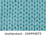 Blue Knitted Wool Texture Can...