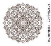 vector mandala pattern of henna ... | Shutterstock .eps vector #1049952605